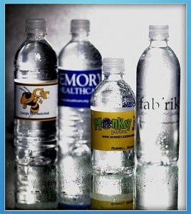 Labeled Bottled Water